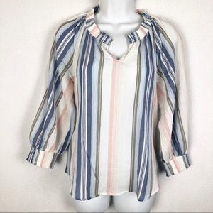 Michael Stars Emerson Peasant Top, Pastel Stripes
